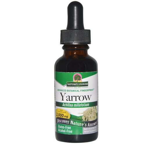 Nature's Answer, Yarrow, Alcohol-Free, 2,000 mg, 1 fl oz (30 ml) Review