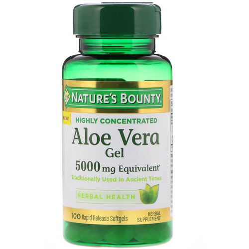 Nature's Bounty, Aloe Vera Gel, 5000 mg Equivalent, 100 Rapid Release Softgels Review