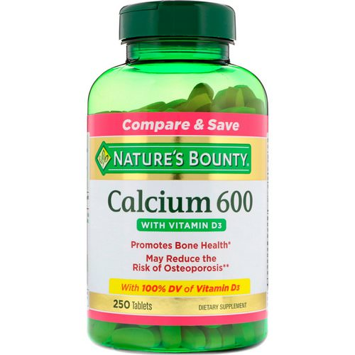 Nature's Bounty, Calcium 600 with Vitamin D3, 250 Tablets Review