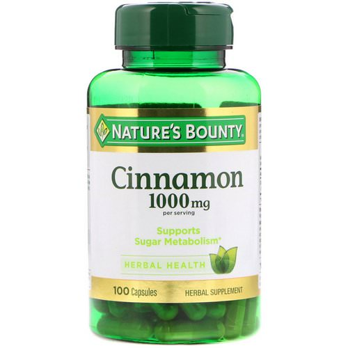 Nature's Bounty, Cinnamon, 1000 mg, 100 Capsules Review