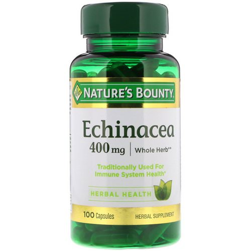 Nature's Bounty, Echinacea, 400 mg, 100 Capsules Review