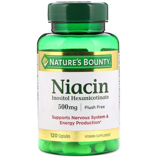 Nature's Bounty, Flush Free Niacin, 500 mg, 120 Capsules Review