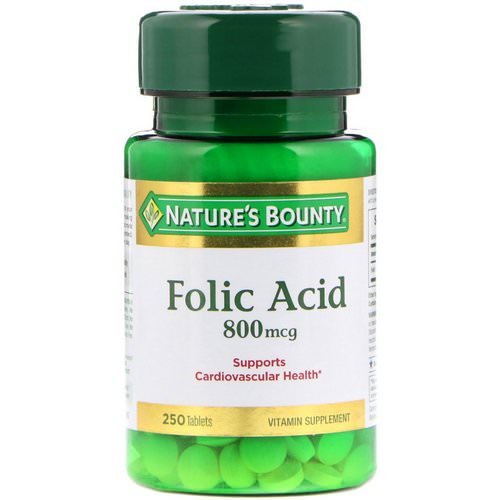 Nature's Bounty, Folic Acid, 800 mcg, 250 Tablets Review