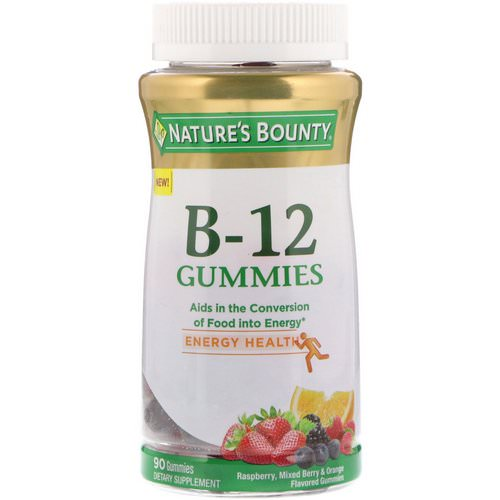 Nature's Bounty, Vitamin B-12 Gummies, Raspberry, Mixed Berry & Orange Flavored, 90 Gummies Review