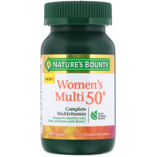 Nature's Bounty, Women's Multi 50+, Complete Multivitamin, 80 Tablets Review