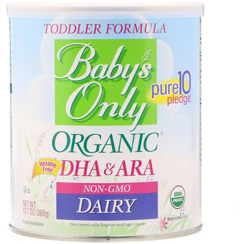 Nature's One, Baby's Only Organic, Toddler Formula, DHA & ARA, Dairy, 12.7 oz (360 g) Review