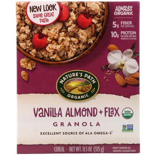 Nature's Path, Organic, Vanilla Almond + Flax Granola Cereal, 11.5 oz (325 g) Review