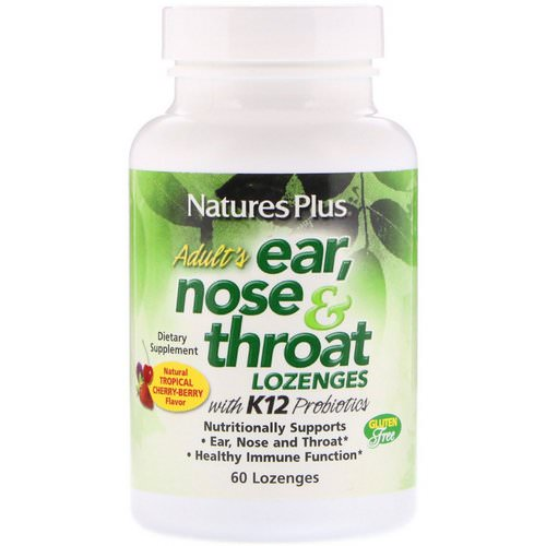 Nature's Plus, Adult's Ear, Nose & Throat Lozenges, Natural Tropical Cherry Berry, 60 Lozenges Review