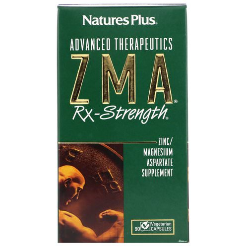 Nature's Plus, Advanced Therapeutics, ZMA Rx-Strength, 90 Vegetarian Capsules Review