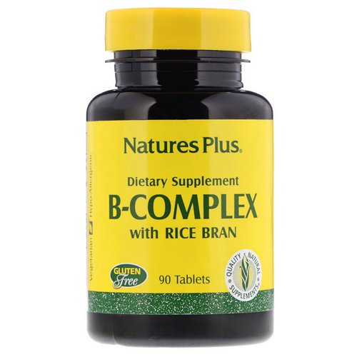 Nature's Plus, B-Complex with Rice Bran, 90 Tablets Review