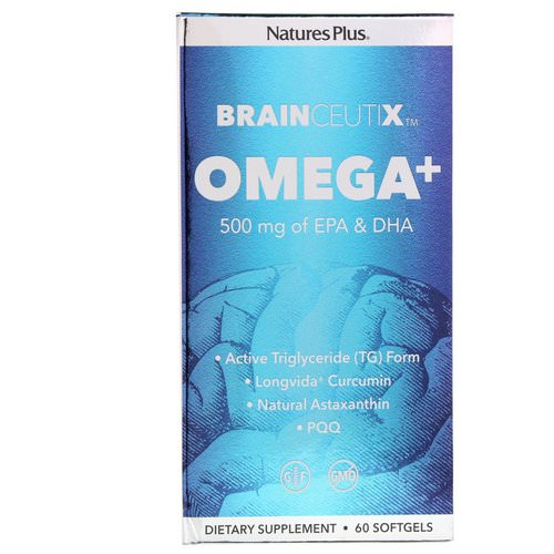 Nature's Plus, Brainceutix, Omega+ EPA & DHA, 500 mg, 60 Softgels Review