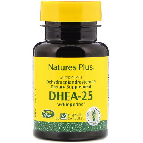 Nature's Plus, DHEA-25 With Bioperine, 60 Vegetarian Capsules Review