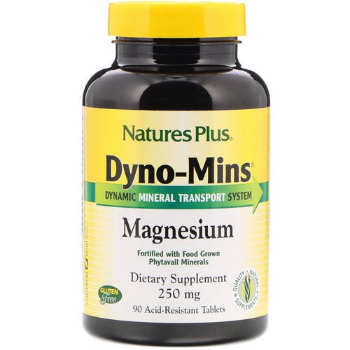 Nature's Plus, Dyno-Mins, Magnesium, 250 mg, 90 Acid-Resistant Tablets Review