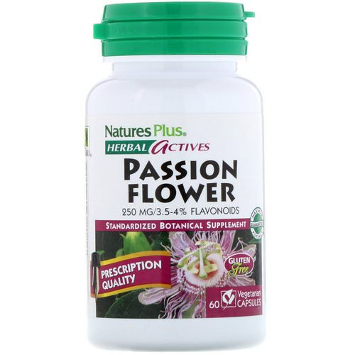 Nature's Plus, Herbal Actives, Passion Flower, 250 mg, 60 Vegetarian Capsules Review