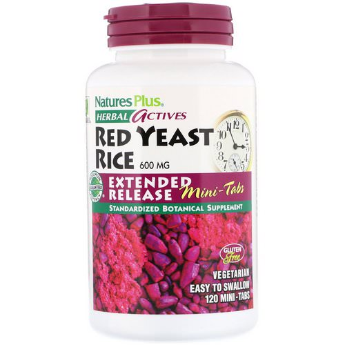 Nature's Plus, Herbal Actives, Red Yeast Rice, 600 mg, 120 Mini-Tabs Review
