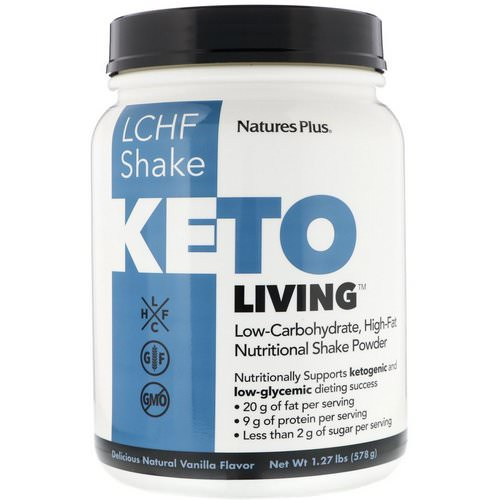 Nature's Plus, KetoLiving, LCHF Shake, Delicious Natural Vanilla Flavor, 1.27 lb (578 g) Review