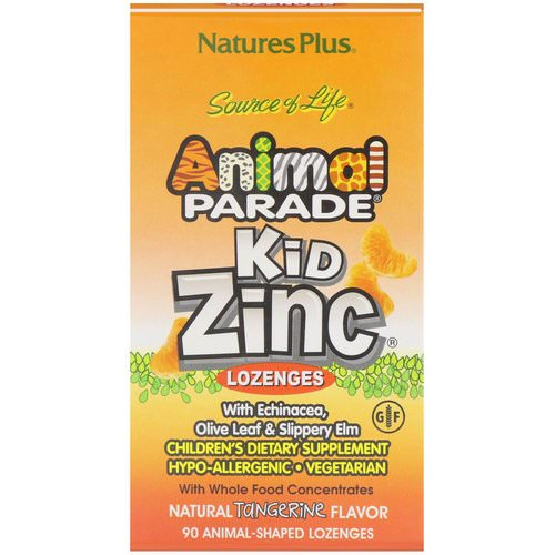 Nature's Plus, Source of Life, Animal Parade, Kid Zinc Lozenges, Natural Tangerine Flavor, 90 Animal-Shaped Lozenges Review