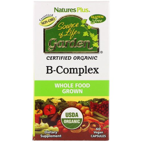 Nature's Plus, Source of Life Garden, Certified Organic B-Complex, 60 Vegan Capsules Review