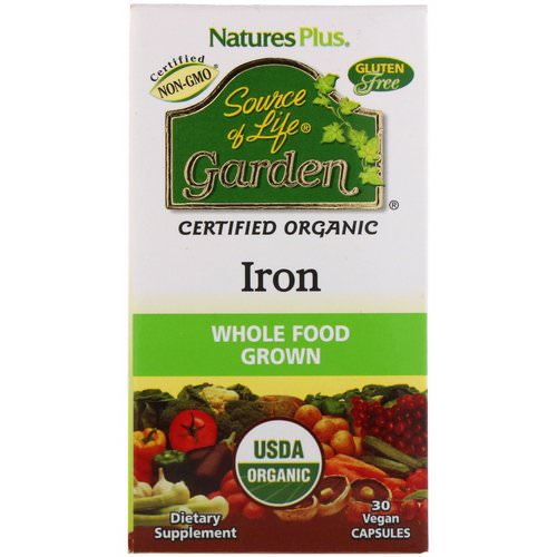 Nature's Plus, Source of Life Garden, Iron, 30 Vegan Capsules Review