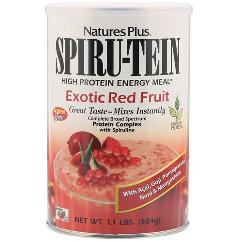 Nature's Plus, Spiru-Tein, High Protein Energy Meal, Exotic Red Fruit, 1.1 lbs (504 g) Review