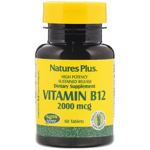 Nature's Plus, Vitamin B-12, 2000 mcg, 60 Tablets Review
