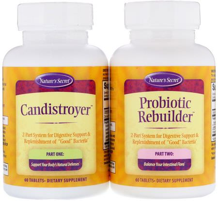 Nature's Secret Candida Yeast Formulas Probiotic Formulas - 益生菌, 消化, 酵母, 念珠菌