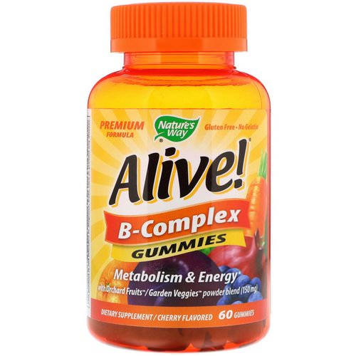 Nature's Way, Alive! B-Complex, Cherry Flavor, 60 Gummies Review