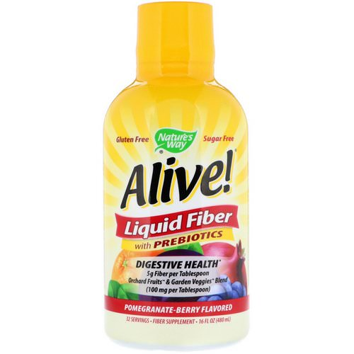 Nature's Way, Alive! Liquid Fiber with Prebiotics, Pomegranate-Berry Flavored, 16 fl oz (480 ml) Review