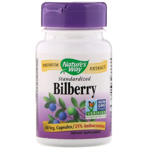 Nature's Way, Bilberry Standardized, 60 Veg Capsules Review