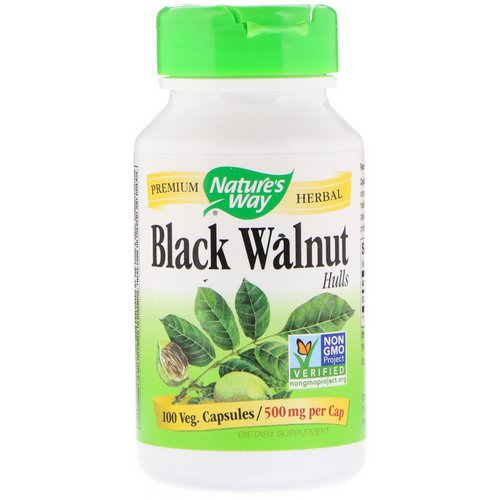 Nature's Way, Black Walnut, Hulls, 500 mg, 100 Vegetarian Capsules Review