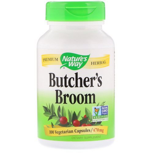 Nature's Way, Butcher's Broom, 470 mg, 100 Vegetarian Capsules Review