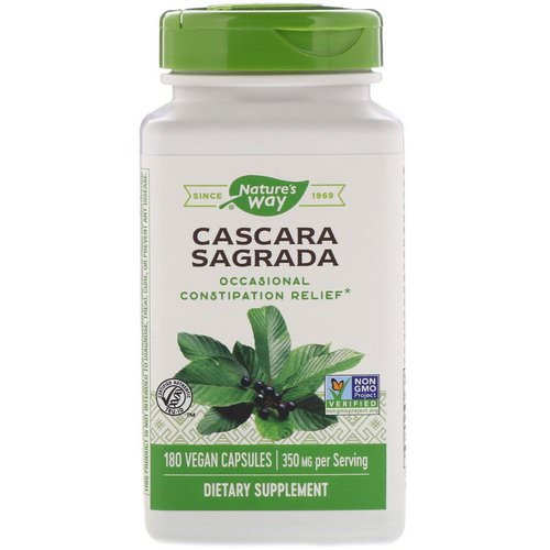 Nature's Way, Cascara Sagrada, 350 mg, 180 Vegan Capsules Review