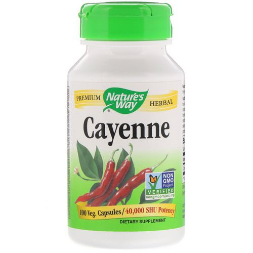 Nature's Way, Cayenne, 40,000 SHU, 100 Veg. Capsules Review