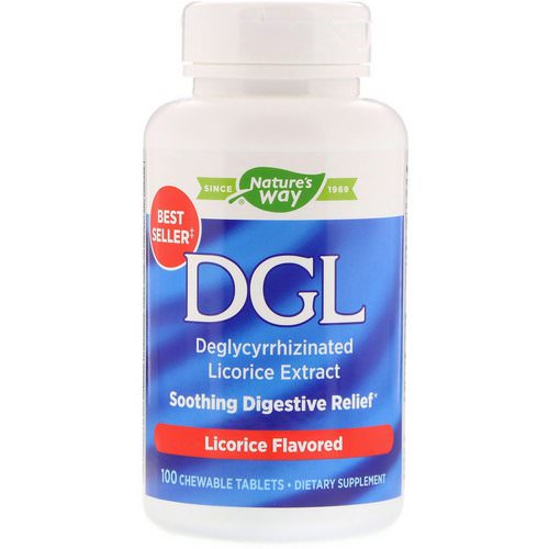 Nature's Way, DGL, Deglycyrrhizinated Licorice Extract, Licorice Flavored, 100 Chewable Tablets Review
