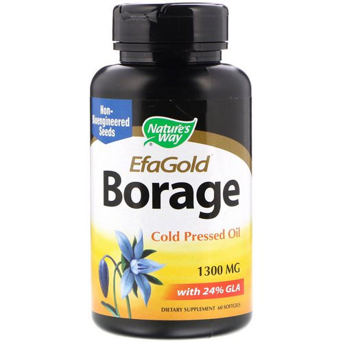 Nature's Way, EfaGold, Borage, 1,300 mg, 60 Softgels Review