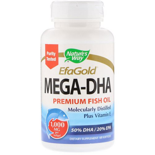 Nature's Way, EfaGold, Mega-DHA, 1000 mg, 60 Softgels Review
