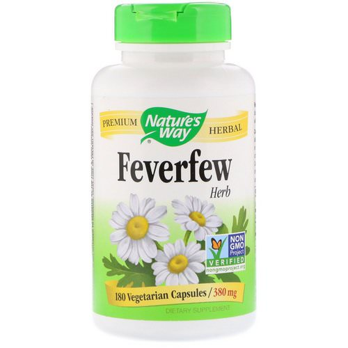 Nature's Way, Feverfew Herb, 380 mg, 180 Vegetarian Capsules Review