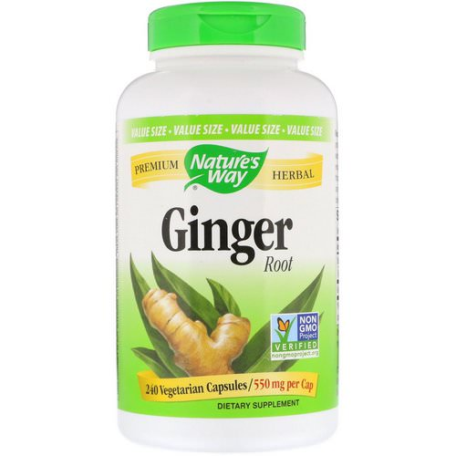 Nature's Way, Ginger Root, 550 mg, 240 Vegetarian Capsules Review