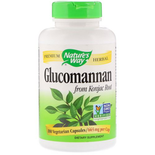 Nature's Way, Glucomannan from Konjac Root, 665 mg, 180 Vegetarian Capsules Review
