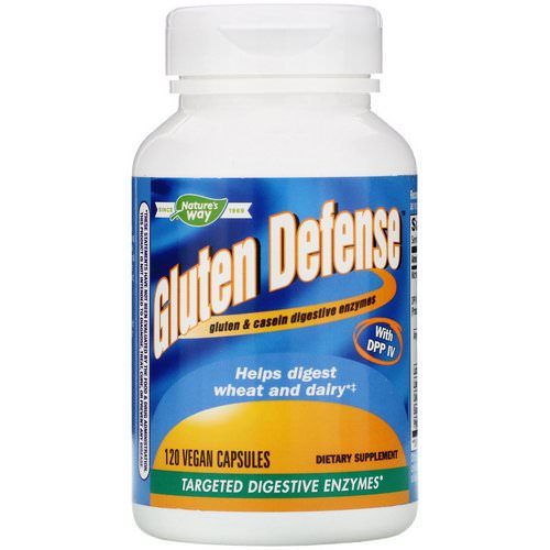 Nature's Way, Gluten Defense with DPP IV, 120 Vegan Capsules Review