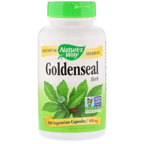 Nature's Way, Goldenseal, Herb, 400 mg, 180 Vegetarian Capsules Review
