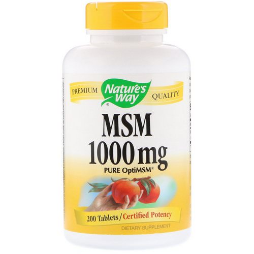 Nature's Way, MSM, Pure OptiMSM, 1000 mg, 200 Tablets Review