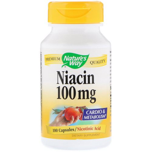 Nature's Way, Niacin, 100 mg, 100 Capsules Review