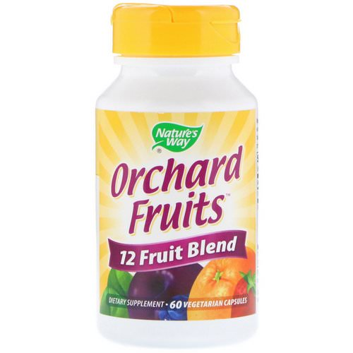 Nature's Way, Orchard Fruits, 12 Fruit Blend, 60 Vegetarian Capsules Review