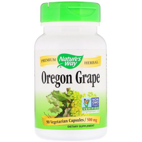 Nature's Way, Oregon Grape, 500 mg, 90 Vegetarian Capsules Review