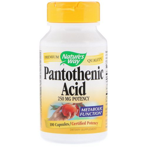 Nature's Way, Pantothenic Acid, 250 mg, 100 Capsules Review