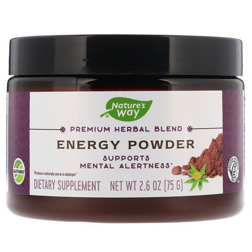 Nature's Way, Premium Herbal Blend, Energy Powder, 2.6 oz (75 g) Review