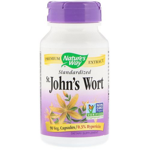 Nature's Way, St. John's Wort, Standardized, 90 Veg. Capsules Review