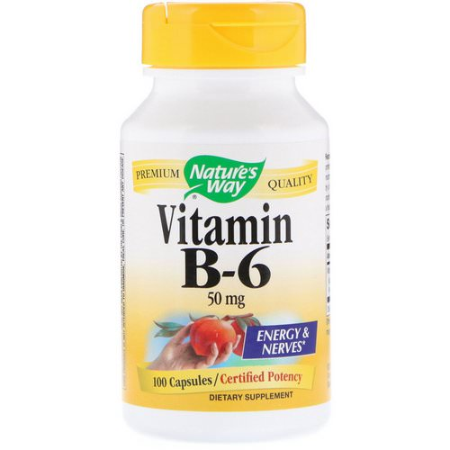 Nature's Way, Vitamin B-6, 50 mg, 100 Capsules Review