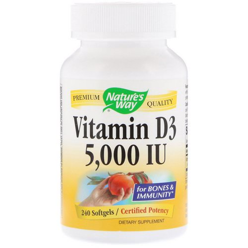 Nature's Way, Vitamin D3, 5000 IU, 240 Softgels Review
